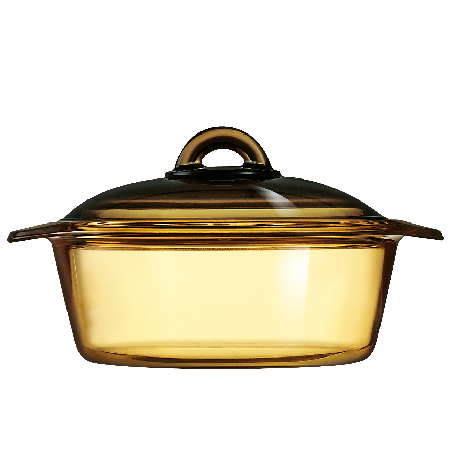 LUMINARC 1.5L VITROFLAM AMBER-GOLD DIRECT FLAME CASSEROLE
