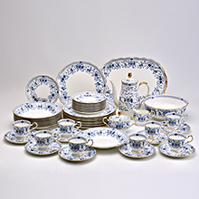 MILANO - 47PC BONE CHINA DINNER SET