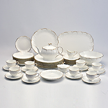 SIMPLY GOLD - 47PC BONE CHINA DINNER SET