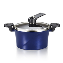 24CM / 4.6L IH VACUUM STOCK POT + SELF-STANDING LID