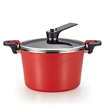 28CM - IH RED ADDICTION VACUUM POT + SELF-STANDING LID