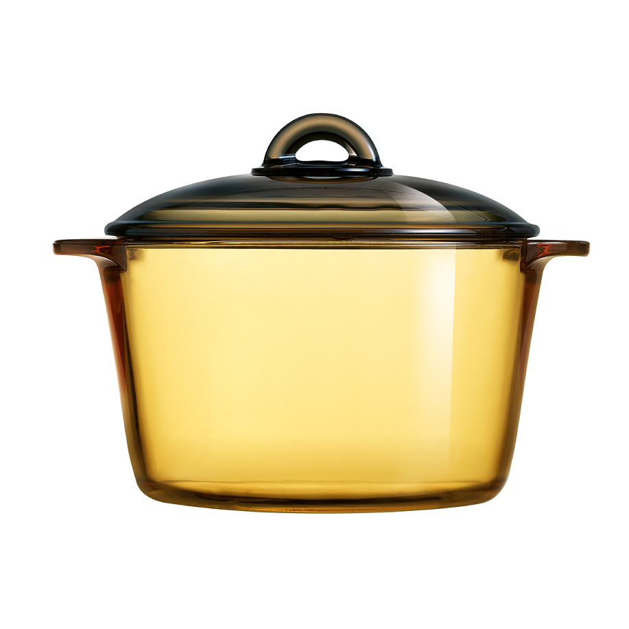 LUMINARC 3L VITROFLAM AMBER-GOLD DIRECT FLAME CASSEROLE