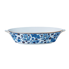 HIBISCUS OVAL SERVING BOWL 1.3LTR