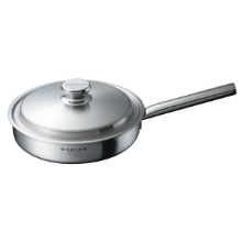 DENVER 5PLY STAINLESS STEEL 25.5CM FRYING PAN WITH LID