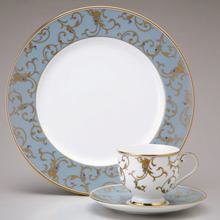 ANATOLIA BLUE - 47PC BONE CHINA DINNER SET