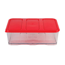 1600ML 3C CONTAINER WITH RED LID