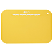LARGE ANTI-BACTERIAL FOLDABLE CUTTING BOARD WITH STAND (YELLOW)