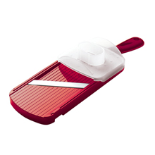 ADJUSTABLE MANDOLINE SLICER WITH HANDGUARD (RED)