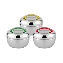 "800ML ""APPLE"" STAINLESS STEEL FOOD JAR"