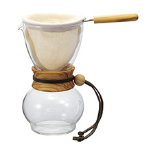480ML COFFEE DRIPPER, OLIVE WOOD