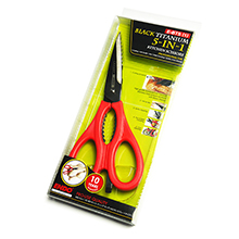 BLACK TITANIUM 5-IN-1 PROFESSIONAL KITCHEN SCISSORS (1)