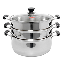 30CM 3-TIER STAINLESS STEEL STEAMER