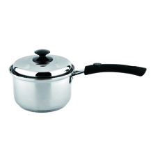 16CM S/STEEL SAUCEPAN + METAL COVER