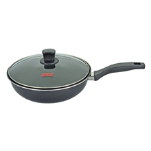 28CM STIRFRY PAN + GLASS COVER