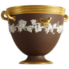 GOLDEN BIRD FOOTED BOWL 24X22CM