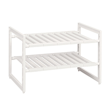 """ARRANGE FREE"" DOUBLE DECK KITCHEN RACK"