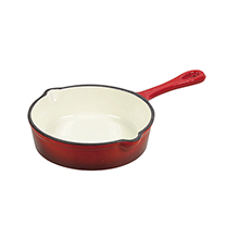 PEARL LIFE 13CM 'ROUGE' ENAMEL IRON CASTING SKILLET PAN