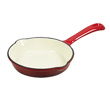 PEARL LIFE 16CM 'ROUGE' ENAMEL IRON CASTING SKILLET PAN