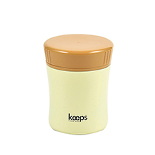 KEEPS 270ML DOUBLE STAINLESS STEEL FOOD JAR - CREAM