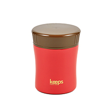 KEEPS 270ML DOUBLE STAINLESS STEEL FOOD JAR - RED