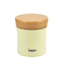 KEEPS 400ML DOUBLE STAINLESS STEEL FOOD JAR - CREAM