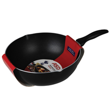 30CM NON-STICK DEEP WOK PAN WITH POURING SPOUTS