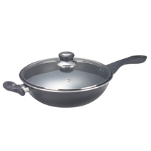 32CM SKILLET WOK + GLASS COVER