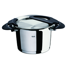 INTENSA BLACK HIGH STEW POT 24CM 6.5LTR