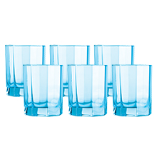OCTIME 6PC 300ML ICE BLUE OLD FASHIONED GLASS SET
