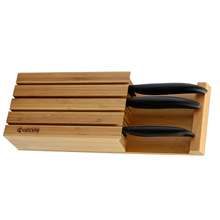 BAMBOO KNIFE BLOCK (FOR 4 KNIVES)