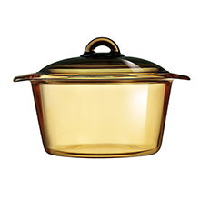VITROFLAM AMBER-GOLD 3L DIRECT-FLAME CASSEROLE