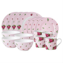 NEW COUNTRY ROSE - PINK MODERN 16PC SET BOXED