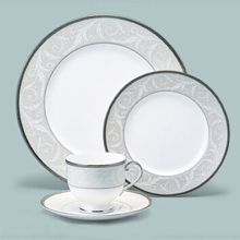 NOCTURNE SILVER - 47PC BONE CHINA DINNER SET
