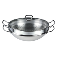 NANJING WOK 35CM WITH STEAMER INSET