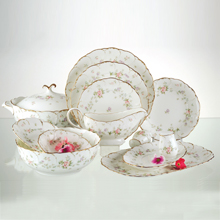 REMEMBRANCE - 47PC BONE CHINA DINNER SET
