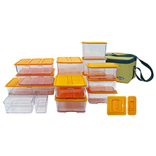 33-PC WIDE BLOCK STACKABLE KITCHEN ORGANISER SET