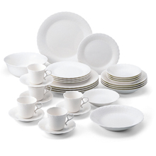 WHITE SILK - 47PC BONE CHINA DINNER SET