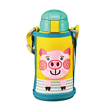 640ML CHILDREN VACUUM INSULATED BOTTLE - PIG