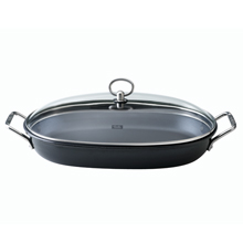 OVAL SERVING NON-STICK PAN WITH LID 36CM X 24CM