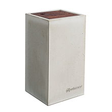 KNIFE BLOCK - CONCRETE / THERMO BEECH WOOD