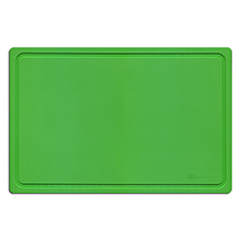 CUTTING BOARD GREEN, 380 X 250 X 40 MM